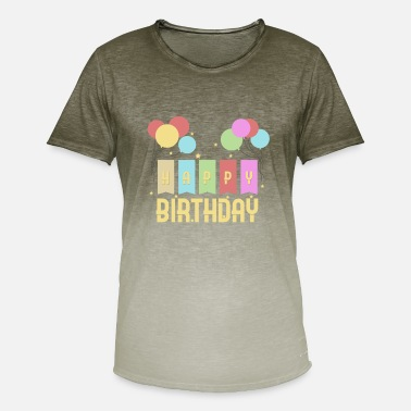 Birthday Kid Happy Birthday Kids Birthday - Men's Colour Gradient T-Shirt