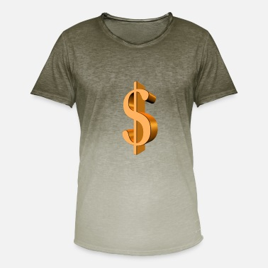 Dollar Sign dollar sign - dollar sign - 3D - $$$ - Men's T-Shirt with colour gradients