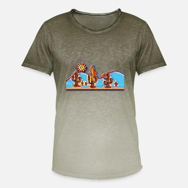 Countryside Cacti in the countryside - Men's T-Shirt with colour gradients