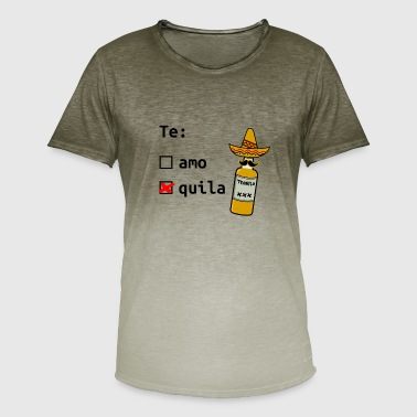 Tequila Te Amo Quila Say Sombrero Gift - Men's T-Shirt with colour gradients