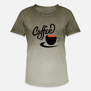 Kaffe Symboler kaffe - Herre T-shirt i colour-block-optik