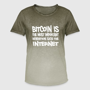 Bitcoin is the most important invention since the - Männer T-Shirt mit Farbverlauf