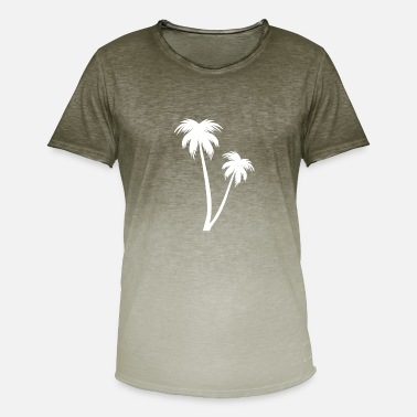 White Palm White palm on the beach - Men's T-Shirt with colour gradients