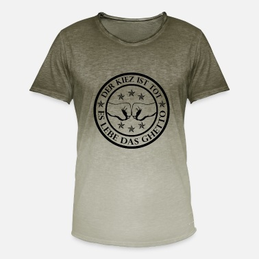 Wijk wijk Ghetto - Mannen kleurverloop T-Shirt