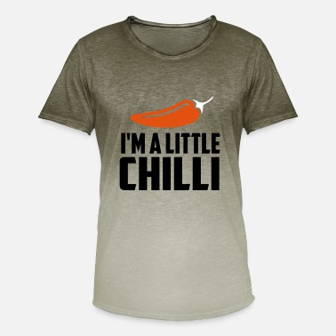 Chilli Quotes i m a little chillie funny quote - Men's T-Shirt with colour gradients