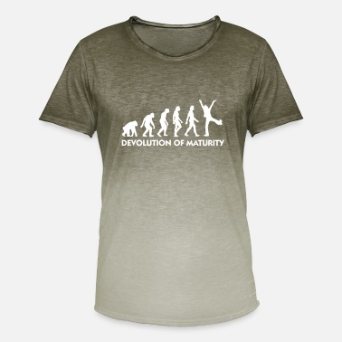 Mature The Evolution Of Maturity - Men's Colour Gradient T-Shirt