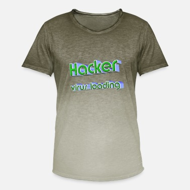 Hackerche pirate informatique - T-shirt dégradé Homme