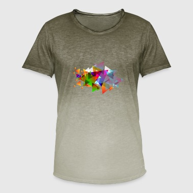 Hipster Triangle Hipster triangles - Men's T-Shirt with colour gradients
