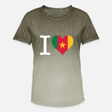 Douala I Love Cameroon - Men's T-Shirt with colour gradients