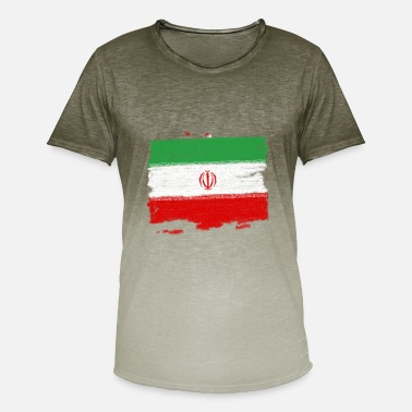 Iran Flag Iran flag - Men's Colour Gradient T-Shirt