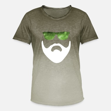 Cool Quote Swag Style Space Hipster - Cool Swag galaxy beard star man - Men's T-Shirt with colour gradients