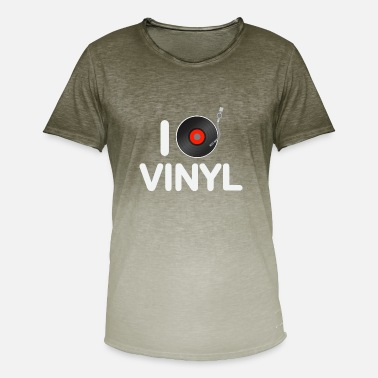 I Love Turnen i love vinyl - Mannen T-shirt met kleurverloop