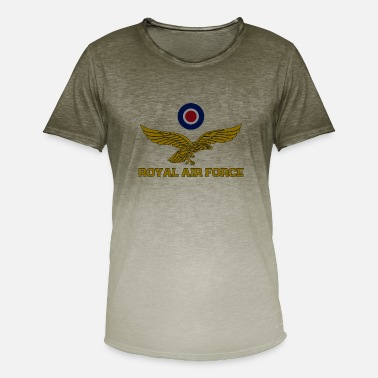 Royal Air Force Royal Air Force Roundel og eagle dunket T-skjorte - T-skjorte med fargegradering for menn