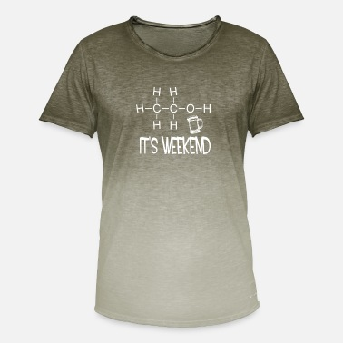 Weekend It's weekend. It is weekend - Men's T-Shirt with colour gradients