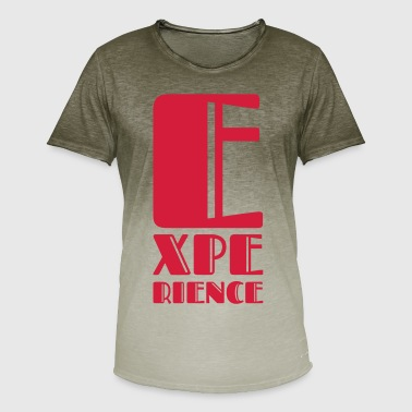 experience - Men's T-Shirt with colour gradients