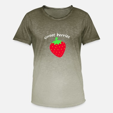 Funny Fruit strawberry fruit fruit fruits - Men's Colour Gradient T-Shirt
