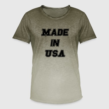 Made In Usa Made In USA - Men's T-Shirt with colour gradients