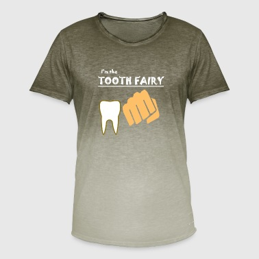 tooth fairy, tooth, fist, beating, bitten - Men's T-Shirt with colour gradients