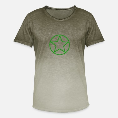 Emblems Kids Star icon emblem green - Men's T-Shirt with colour gradients