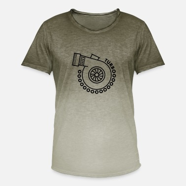 Turbo turbo - Camiseta degradada hombre