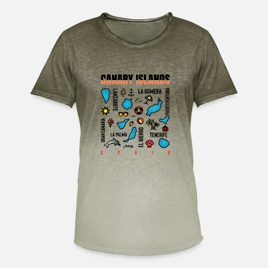 Canary Islands Canary Islands - island plan - Men's Colour Gradient T-Shirt