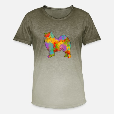 Samoyed Samoyede Multicolored - Men's Colour Gradient T-Shirt