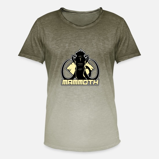 Archaeology T-Shirts - mammoth - Men's Colour Gradient T-Shirt dip dye khaki