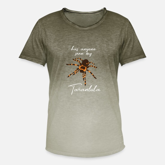 Spiders T-Shirts - Spider - Spiders - Spider Owner - Funny - Men's Colour Gradient T-Shirt dip dye khaki