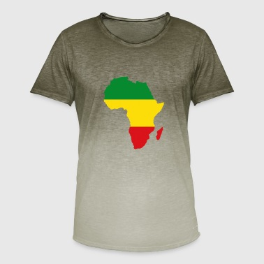 Africa Map Reggae Rasta Rastafari Ragga Regge - Men's T-Shirt with colour gradients