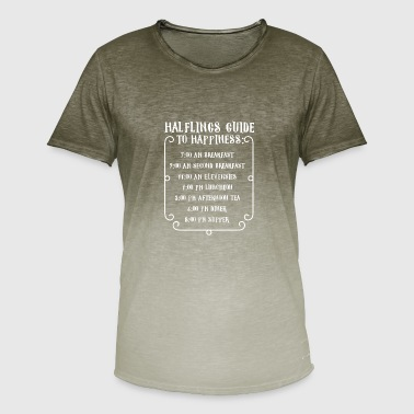 Pen and Paper Halflings Guide to Happiness Spruch - Männer T-Shirt mit Farbverlauf