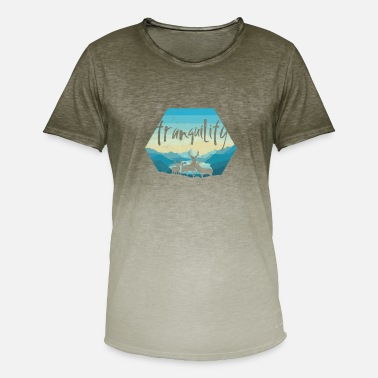 Idyll Antlers deer hunting idyll hike recreation deer - Men's T-Shirt with colour gradients
