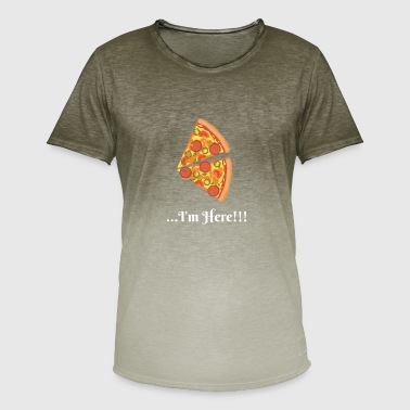 Pizza Couple Je suis la !!! (Couple De Pizza) 2 - T-shirt dégradé Homme