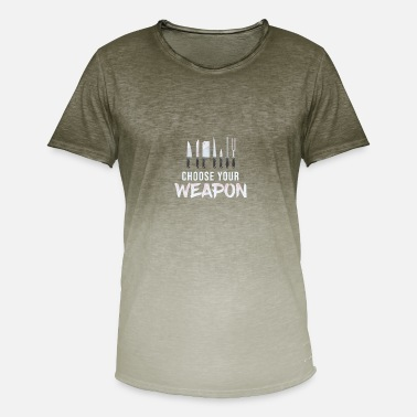 Kitchen Knives Cool Choose Your Weapon Chef Kitchen Knives Gift - Men's T-Shirt with colour gradients