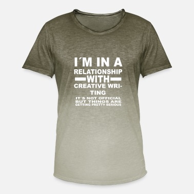 Writing relationship with CREATIVE WRITING - Männer Farbverlauf T-Shirt