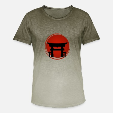Spirituality Japanese Gate Monastery Samurai Japan - Men's Colour Gradient T-Shirt