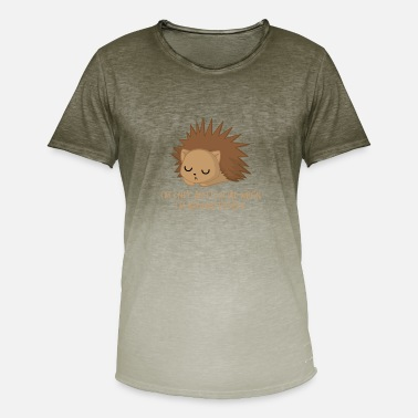 70dc9843 Introvert Funny Hedgehog - Antisocial - Introvert - Funny - Sarcasm -  Men'. Men's Colour Gradient T-Shirt