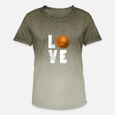 Basketball-is-life Love Basketball Cool Tshirt for Sport Lovers - Camiseta degradada hombre