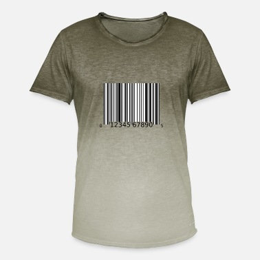 Bar Code bar code - Men's T-Shirt with colour gradients