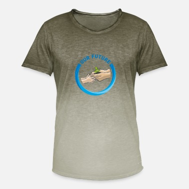 Erle Nature Forest Future Ranger abedul regalo - Camiseta degradada hombre