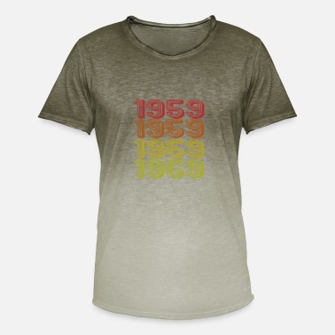 Born Retro Born i 1959 - Herre T-shirt i colour-block-optik