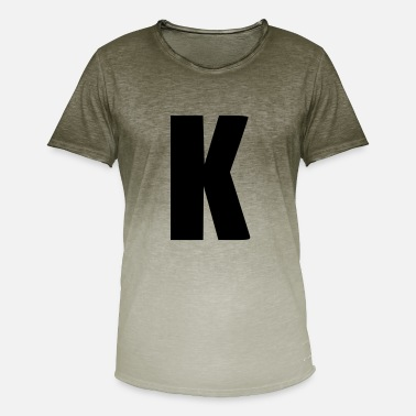 Alphabet Initial K initial letter alphabet baby gift birth - Men's Colour Gradient T-Shirt