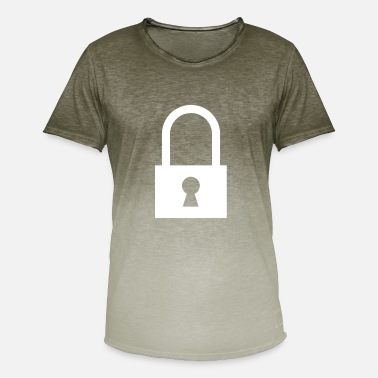 Locks Locked lock / locks / keys - Men's T-Shirt with colour gradients