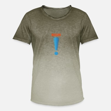 Punta Logo punto de exclamación logo - Camiseta degradada hombre b1c433935