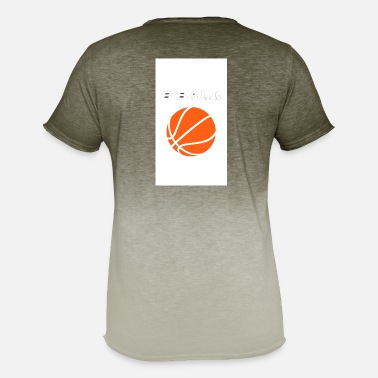 B Ball B-ball, basketball - Men's T-Shirt with colour gradients