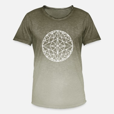 Geometri Geometrisk geometri - T-shirt i colour-block-optik mænd