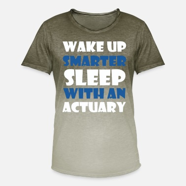 Actuary Actuary - Wake up smarter sleep with an actuary - Men's Colour Gradient T-Shirt