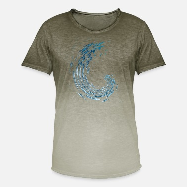 Condensation aircraft swarm - Men's Colour Gradient T-Shirt