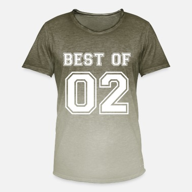 Date Best of 2002 birthday birth year saying 17 year - Men's Colour Gradient T-Shirt