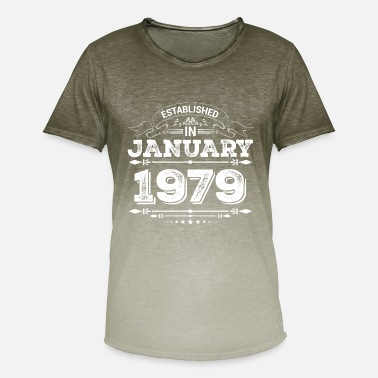 Established Established in January 1979 - Männer Farbverlauf T-Shirt