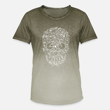 Sprocket Bicycle Skull - Men's Colour Gradient T-Shirt
